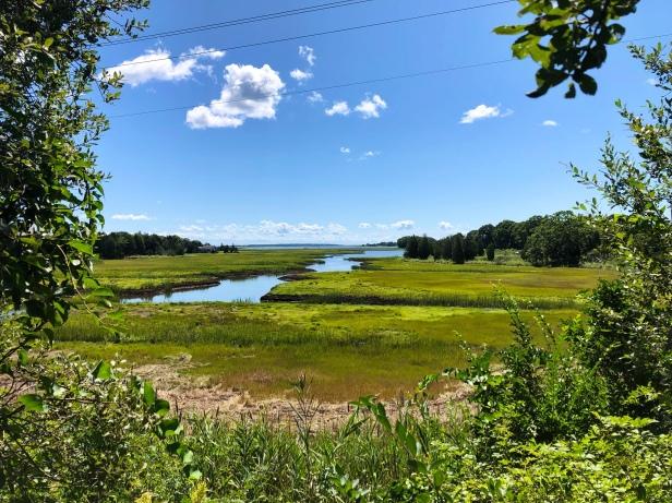 Low tide in fairhaven Massachusetts