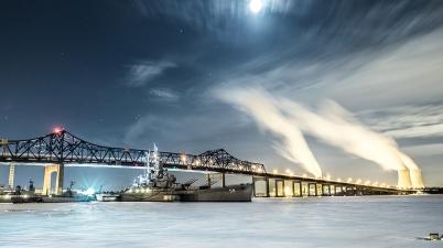 Braga Bridge in Fall River, Massachusetts