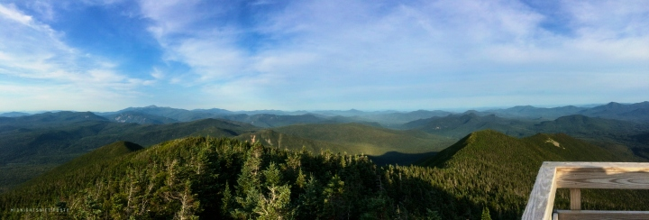 A view of the White Mountains from the fire tower at the summit of Mt. Carrigain