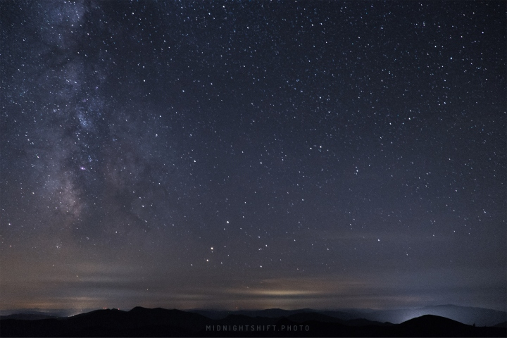 The Milky Way Galaxy above Lincoln, New Hampshire.