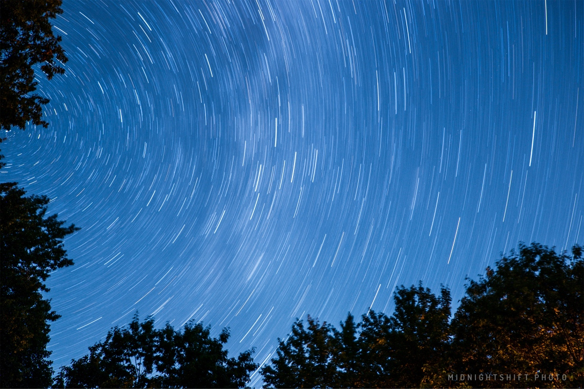 In the same location, I created this 28-minute exposure of the stars.