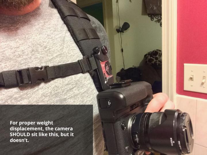 photo of the peak design capture camera clip