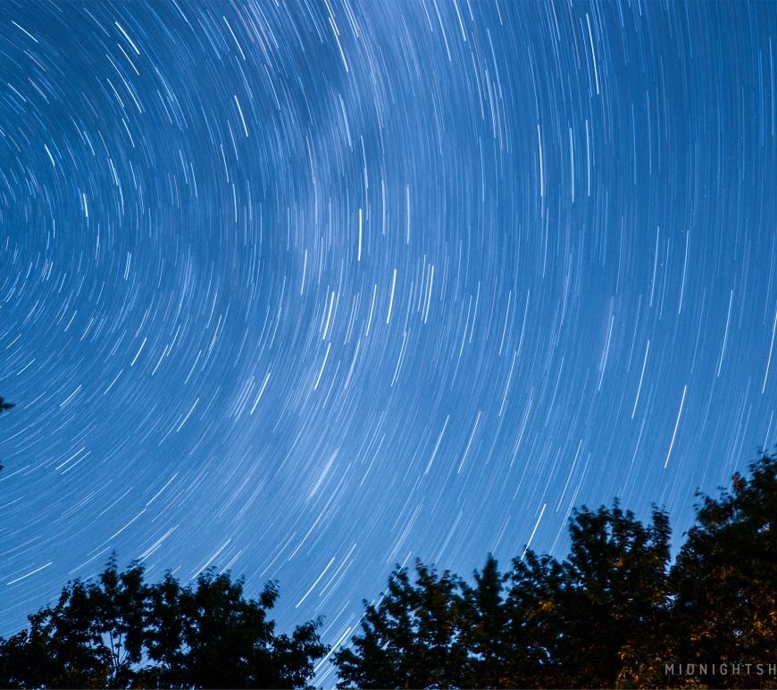 Star photography in Fryeburg, Maine