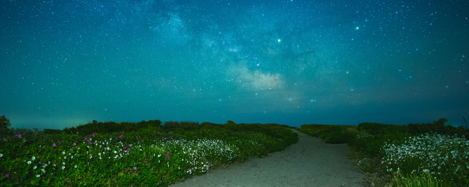 The Milkyway Galaxy above Gooseberry Island in Westport, Massachusetts.
