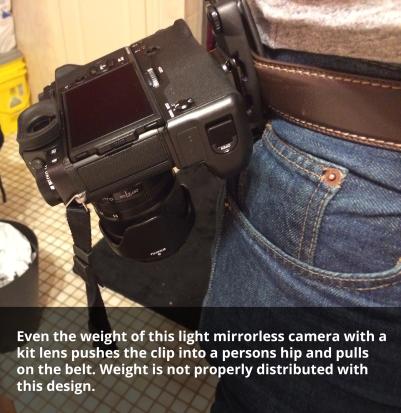 A photo of the peak design capture camera clip