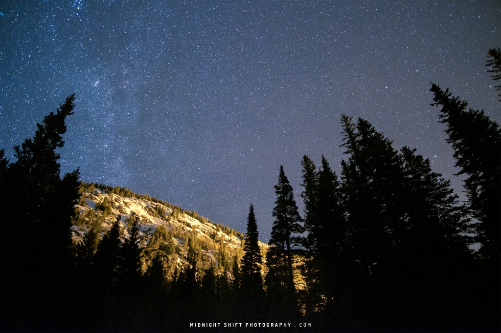 Stars above the Mountains of Colorado