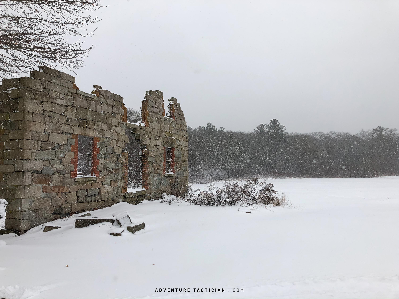 Ruins of Whites mill in Acushnet, Massachusetts