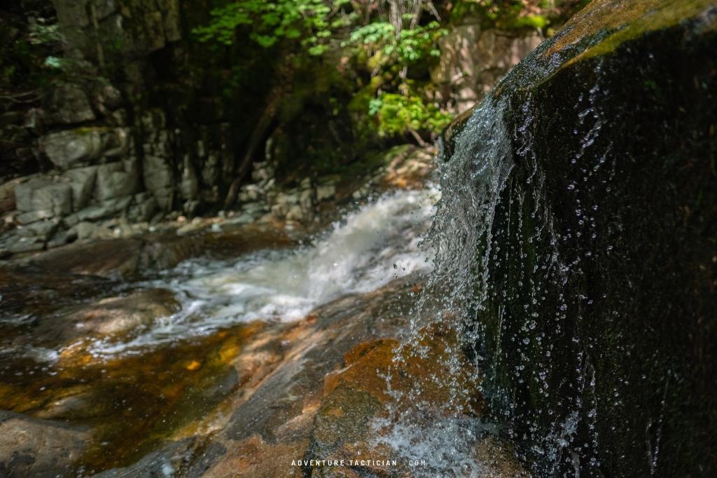 Basin Cascade Trail in Franconia Notch New Hampshire